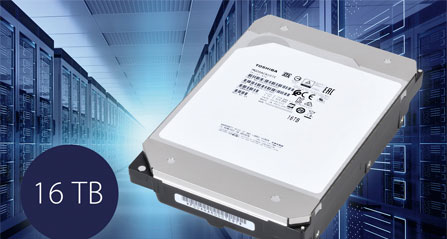 Toshiba Announces 16TB MG08 Series Hard Disk Drives